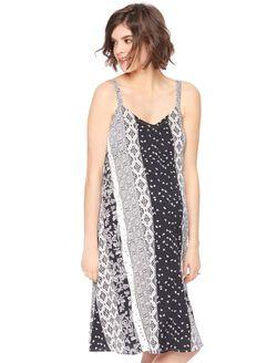 Scarf Print Swing Maternity Dress, Scarf Print