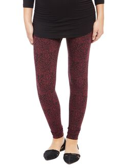 Secret Fit Belly Paisley Maternity Leggings, Paisley