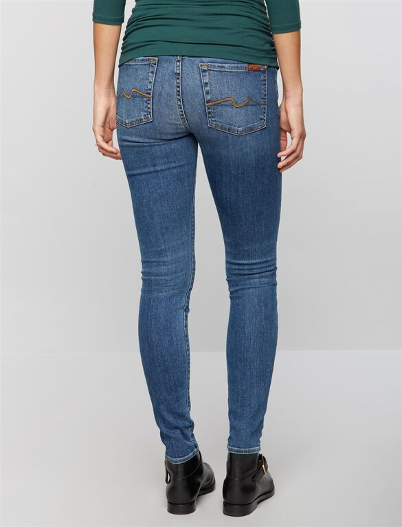 7 For All Mankind Secret Fit Belly Destructed Denim Skinny Maternity Jeans, Hyde Park