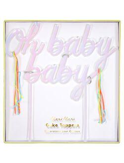 Meri Meri Oh Baby Baby Cake Toppers, Multi Color