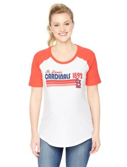 St. Louis Cardinals MLB Elbow Sleeve Maternity Graphic Tee, Cardinals