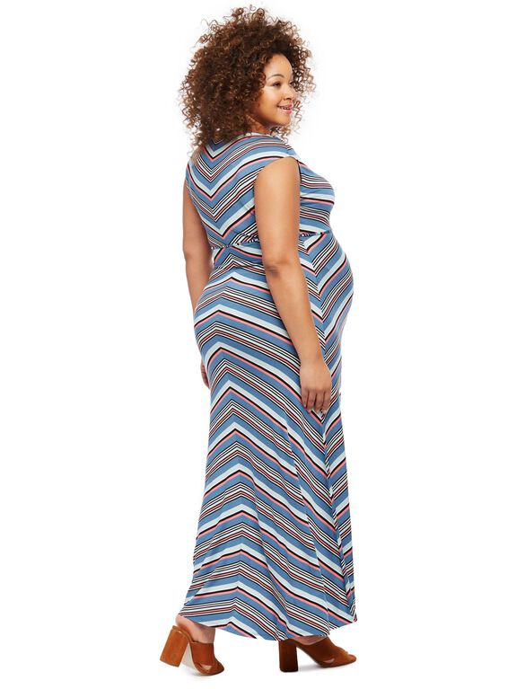 Jessica Simpson Plus Size Striped Maternity Dress, Ombre Stripe