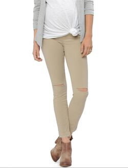 J Brand Secret Fit Belly Skinny Leg Maternity Jeans, Sand Sky- Kakhi
