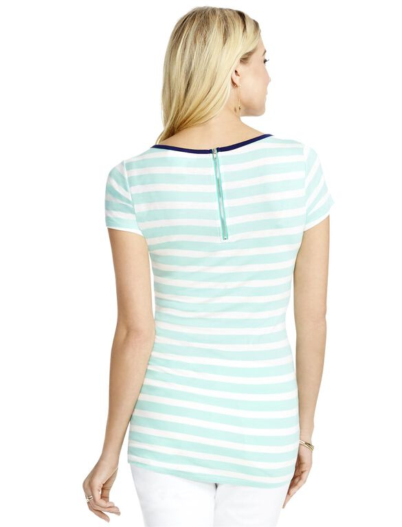 Jessica Simpson Striped Maternity Tee, Blue/White