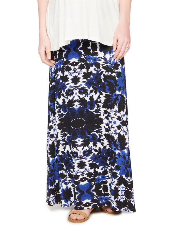Self Belly Relaxed Fit Maternity Skirt, Printed Floral