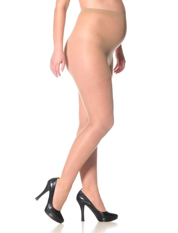 Sheer Maternity Pantyhose, Nude