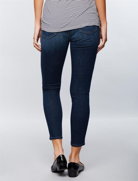 J Brand Secret Fit Belly Skinny Ankle Maternity Jeans, Medium Wash