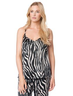 Trapeze Nursing Sleep Top, Zebra Print