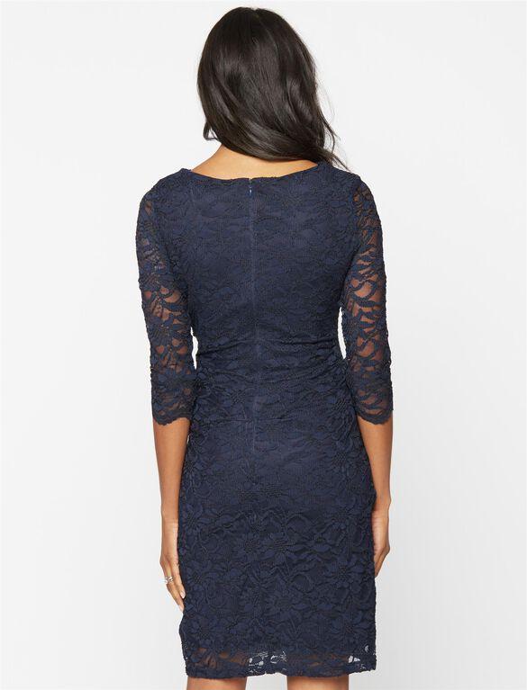 Taylor Navy Lace Maternity Dress, Navy
