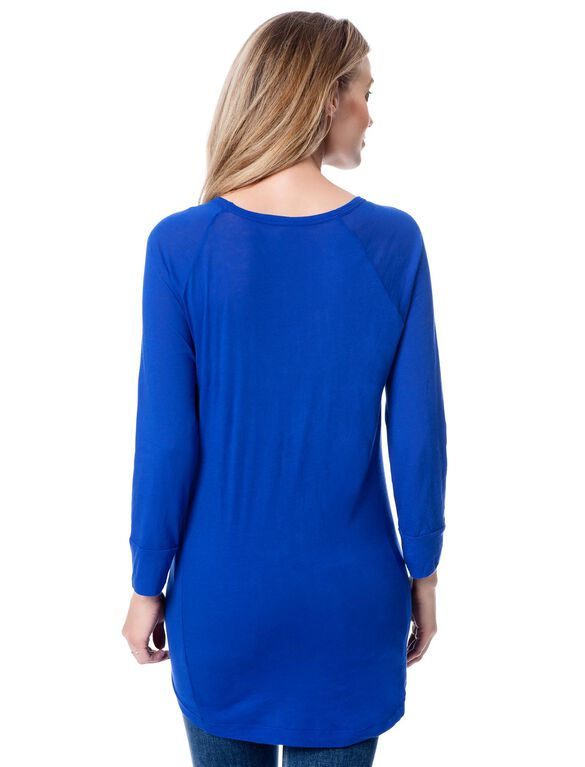 Splendid Maternity Top, Cobalt Blue
