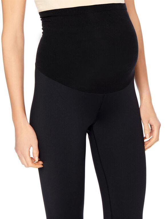 Secret Fit Belly Maternity Active Pants- Black, Black