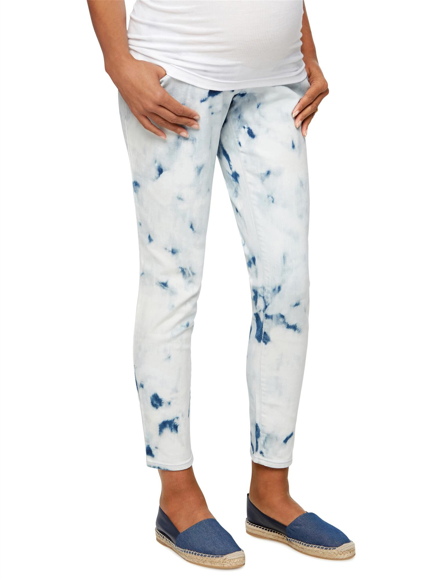 Luxe Essentials Denim Secret Fit Belly Tie Dye Maternity Jean
