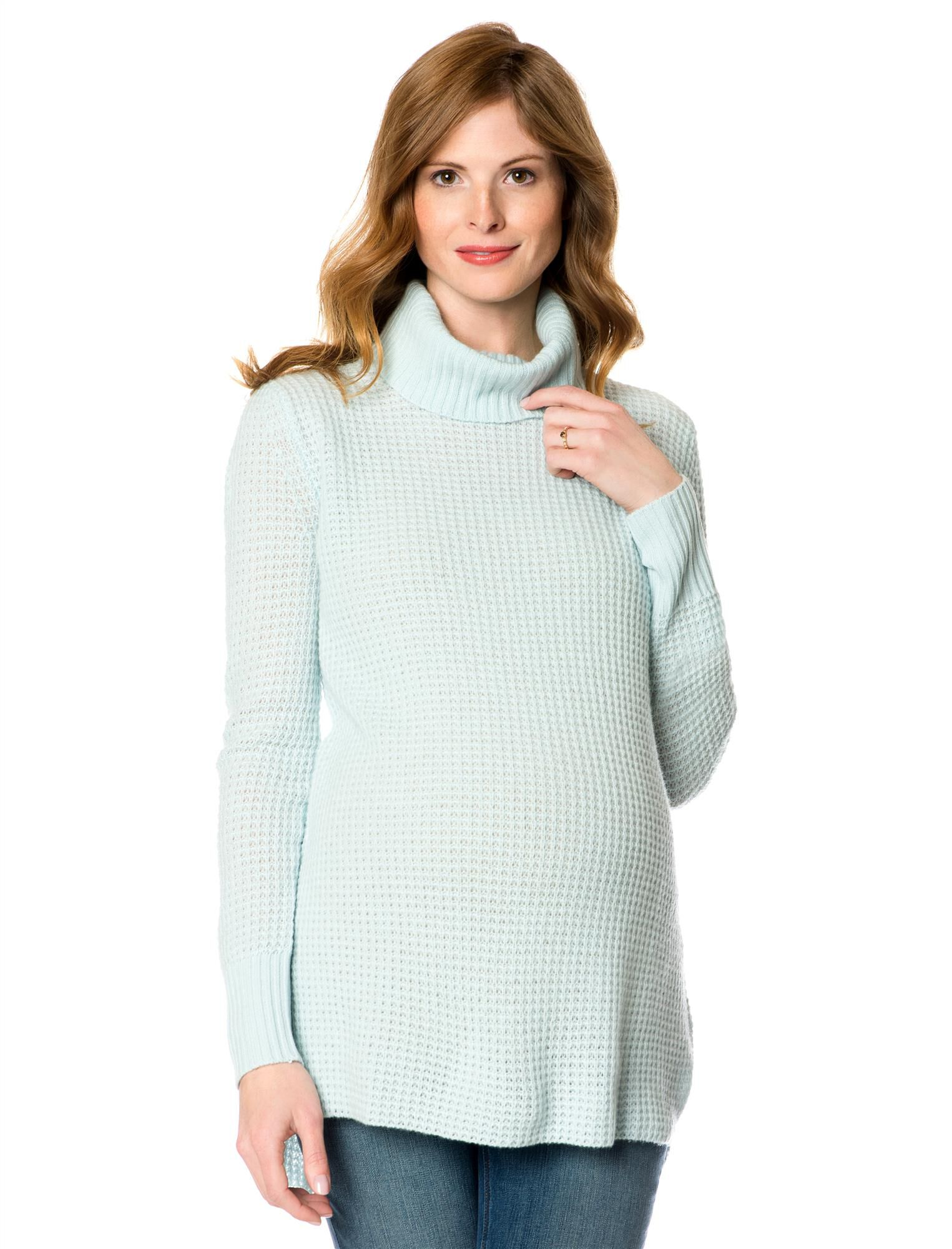 Long Sleeve Cashmere Maternity Pullover Sweater