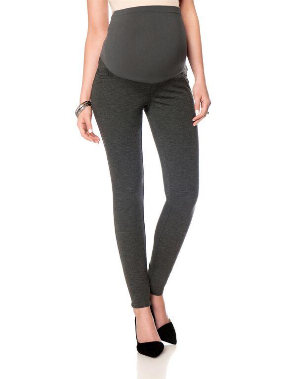 Secret Fit Belly Ponte Skinny Leg Maternity Pants, Heathered Charcoal