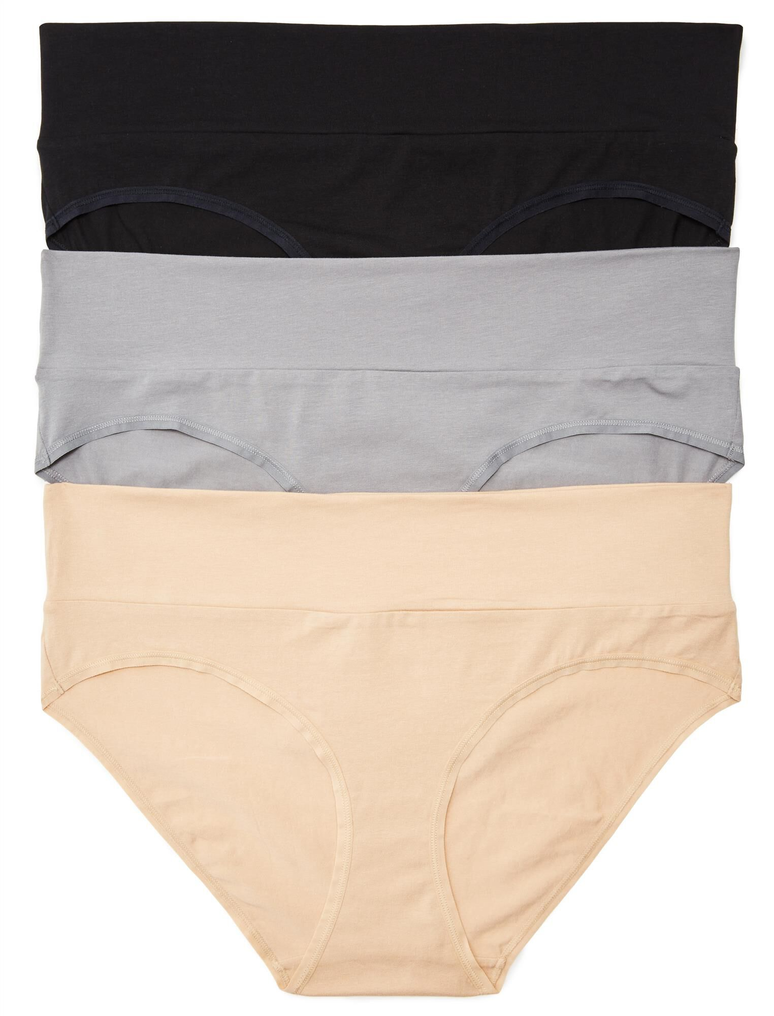 Plus Size Maternity Fold Over Panties (3 Pack)