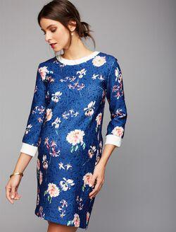 Pietro Brunelli Floral Jacquard Maternity Dress, Print