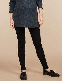 Secret Fit Belly French Terry Maternity Leggings, Core Black