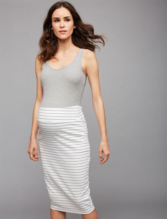 Ripe Pencil Fit Maternity Skirt, Stripe