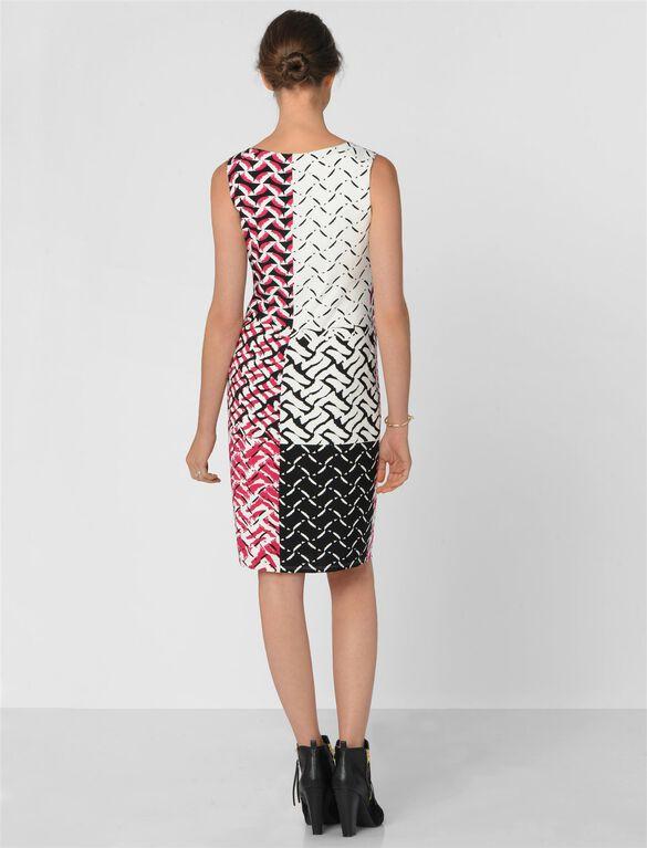 Donna Morgan Dropwaist Maternity Dress, Geo Print