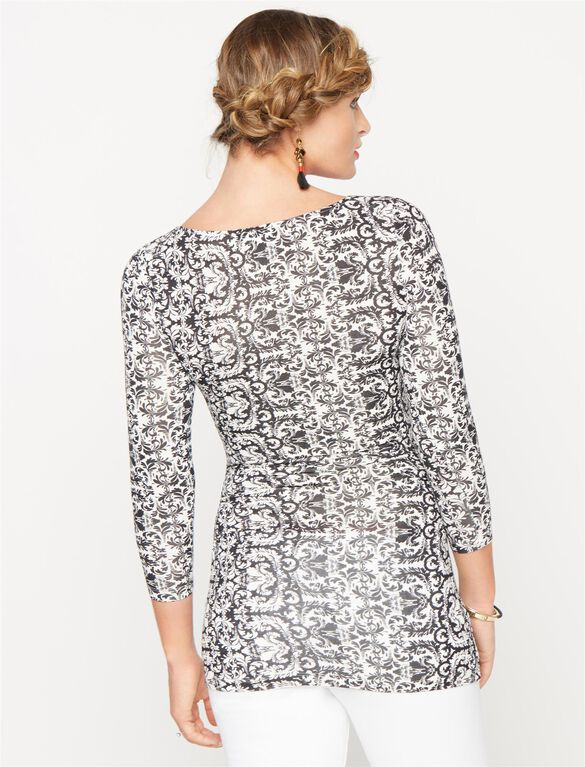 Isabella Oliver Ruched Maternity Top, Brocade Print