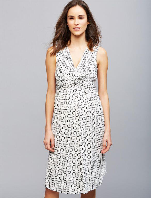 Envie de Fraise Amaya Maternity Dress, WHT/BLK