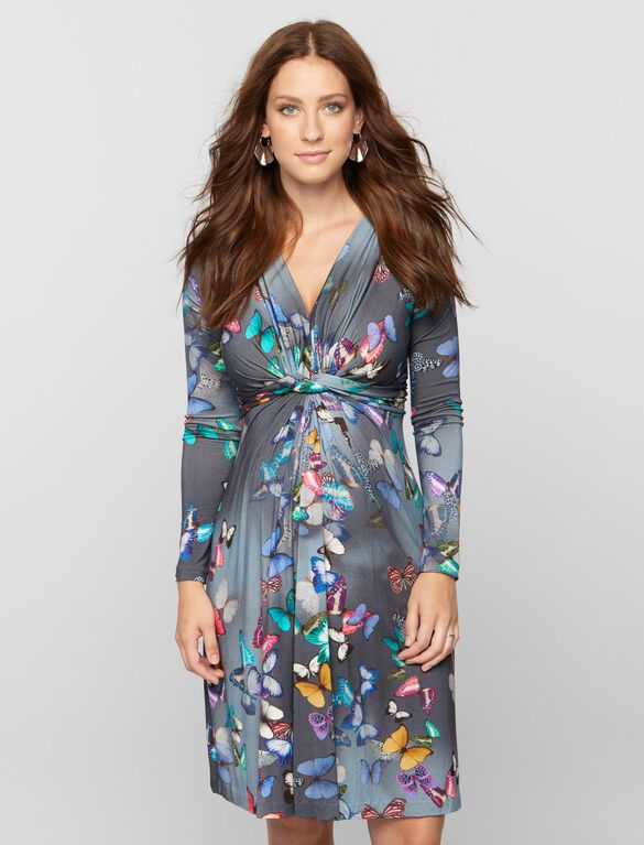 Pietro Brunelli Milano Maternity Dress, Butterfly Print