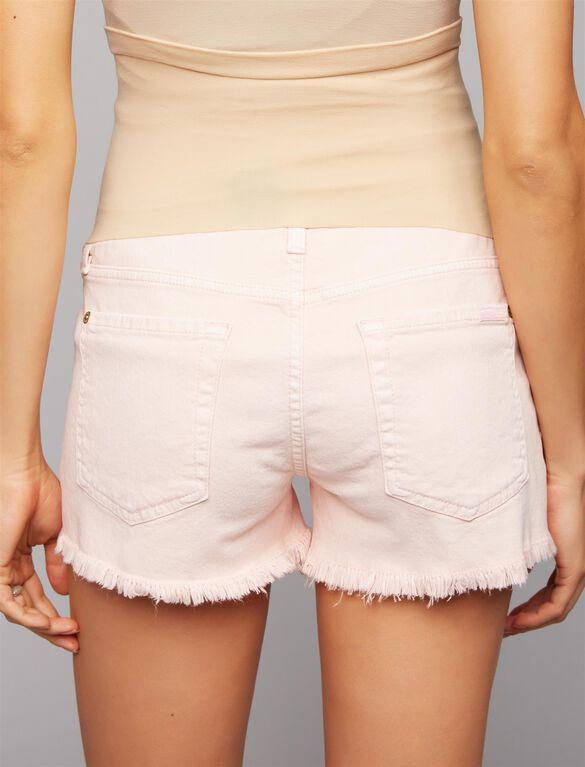 7 For Mankind Secret Fit Belly Fray Hem Maternity Shorts, Pink