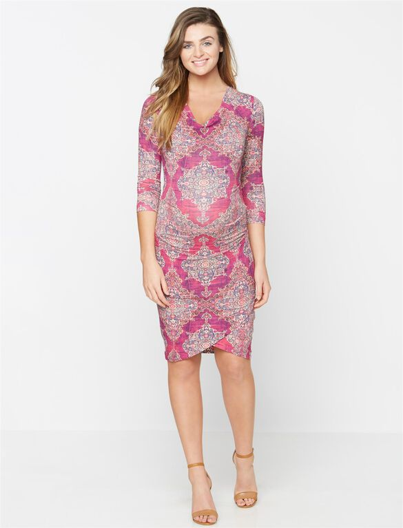 Nicole Miller Print Maternity Dress, Multi Print