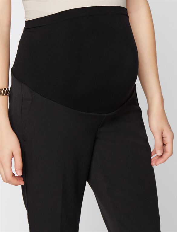 A Pea In The Pod Bi-stretch Suiting Slim Leg Maternity Pants, Black