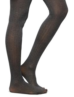Ribbed Textured Maternity Tights, Charcoal