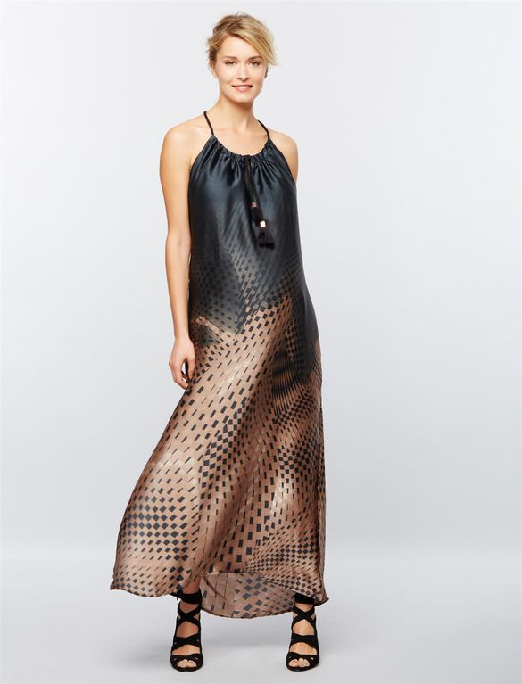 Ripe Halter Maternity Dress, Print