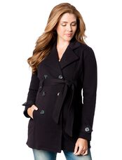Maternity Peacoat, Black
