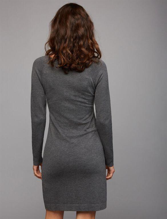 Ripe Zip Detail Nursing Dress, Grey