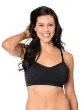 Sports Clip Down Nursing Bra, Black