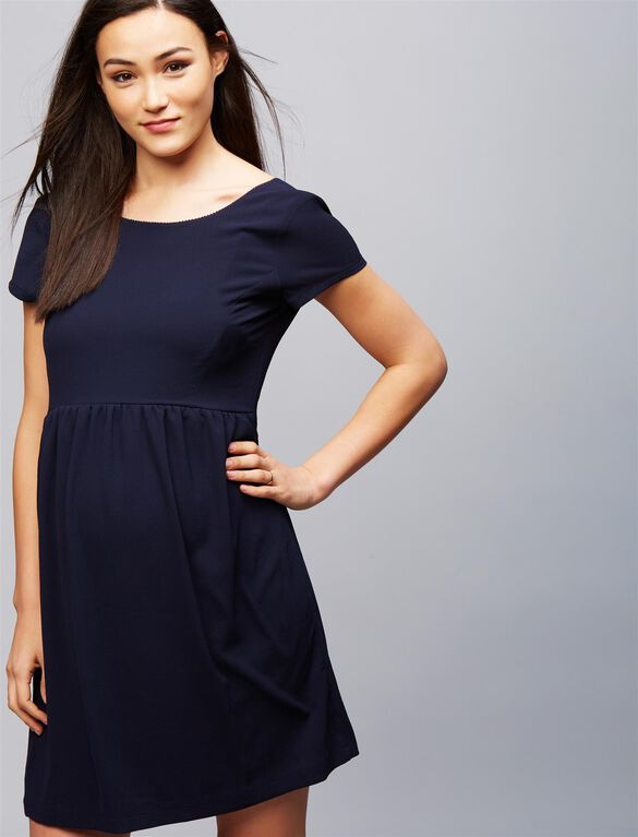 Envie de Fraise Mara Maternity Dress, Navy