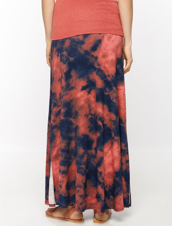 Self Belly Tie Dye Maxi Maternity Skirt, Tie Dye