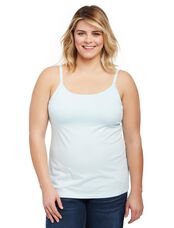 Plus Size Nursing Clip Down Cami- Aqua, Aqua Wave Blue
