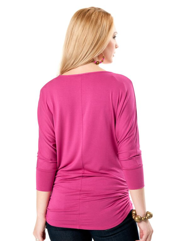 Dolman Sleeve Maternity Top, Fuschia