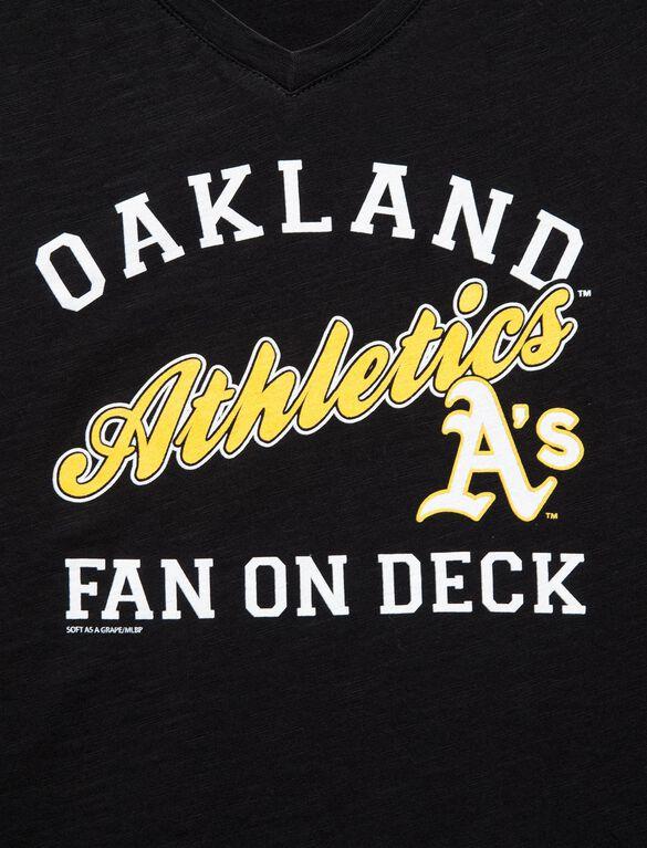 Oakland Athletics MLB Short Sleeve Maternity Graphic Tee, Athletics