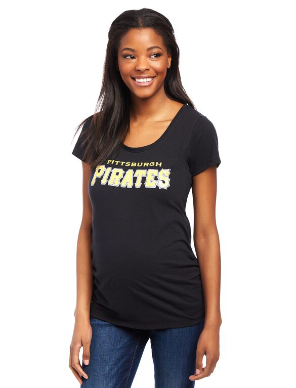 Pittsburgh Pirates MLB You're Out Maternity Tee, Pirates Black