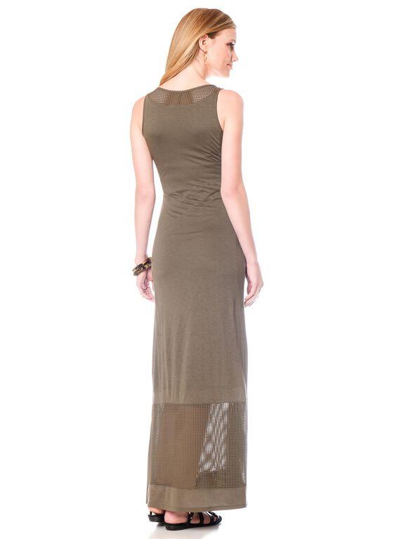 Sleeve Detail Maternity Dress, Olive