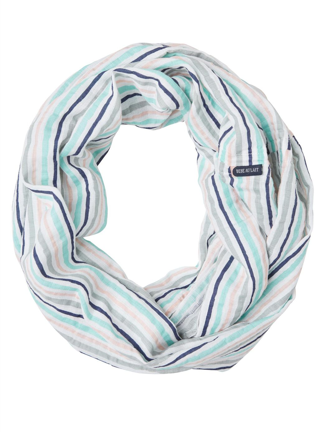 Bebe au Lait Muslin Infinity Breastfeeding Scarf- Candy Stripe at Motherhood Maternity in Victor, NY | Tuggl