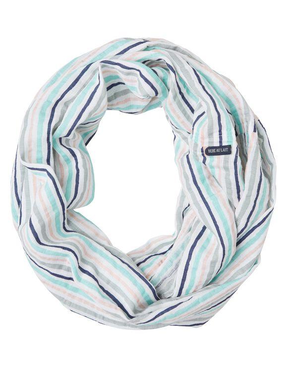Bebe au Lait Muslin Infinity Breastfeeding Scarf- Candy Stripe, Candy Stripe