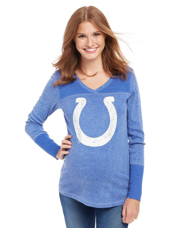 Indianapolis Colts NFL Long Sleeve Maternity Graphic Tee, Colts Blue
