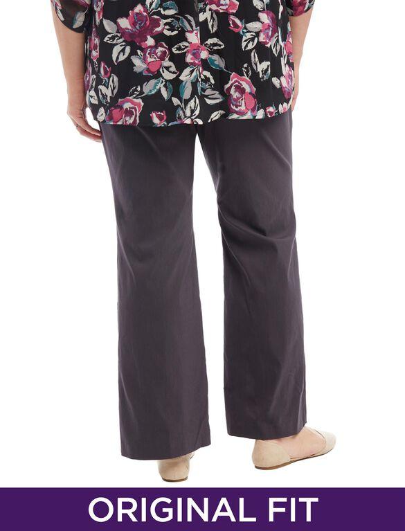 Plus Size Secret Fit Belly Tech Twill Maternity Jeans, Grey