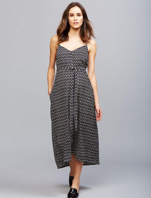 Seraphine Kalina Maternity Dress, Black/White Dot Print
