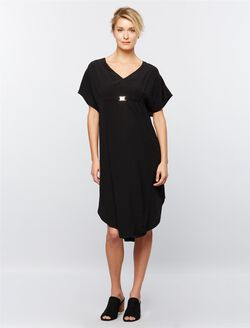 Ripe Coolum Caftan Maternity Dress, Black