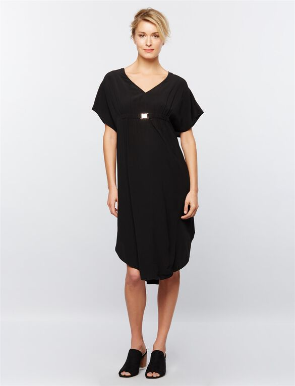 Ripe Coolum Caftan Maternity Dress, Black