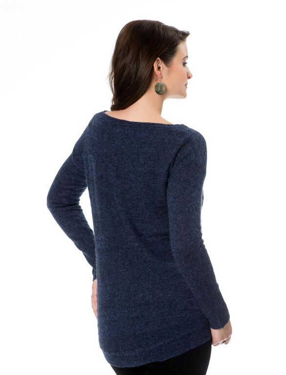 Coin Pocket Maternity Sweater, Midnight