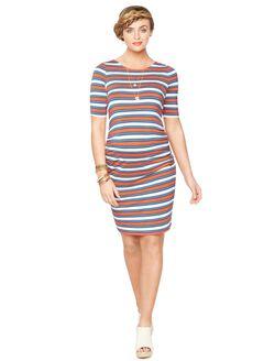 Rachel Zoe Back Interest Maternity Dress, Multi Stripe
